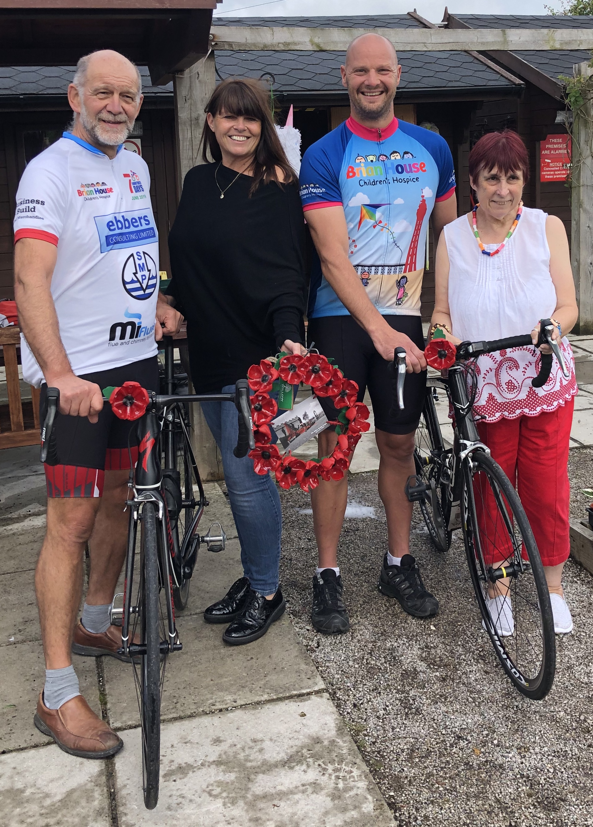 Making Poppies and a Wreath for Team Yabbitus – Cycling 7 Countries in 7 Days